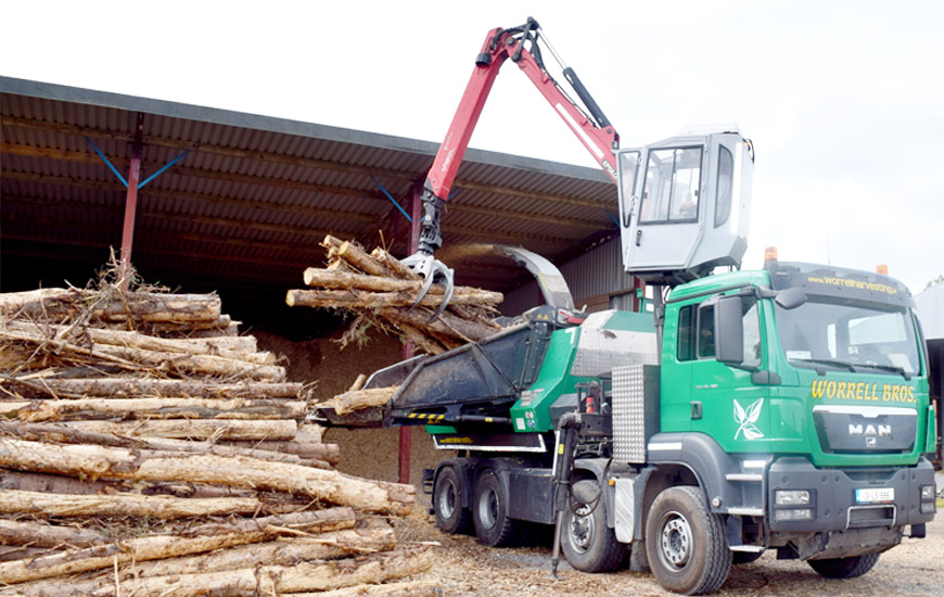 Biomass Wood Chips ~ Biomass woodchip worrell harvesting